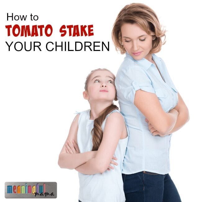 How to Handle Difficult Children - The Technique of Tomato Staking