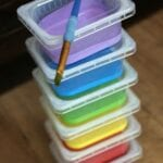 Store Paint in Baby Food Containers