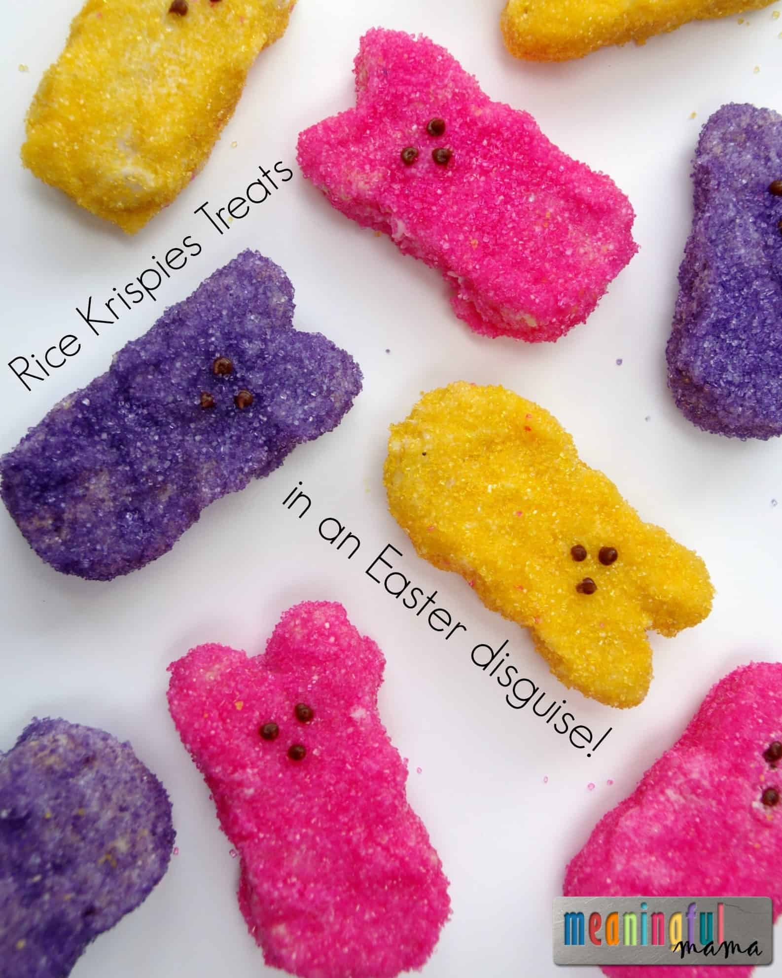 Rice krispies treats in an easter disguise for Different ways to make rice krispie treats