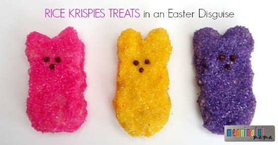 Rice Krispies Treats for Easter - Disguised as Peeps