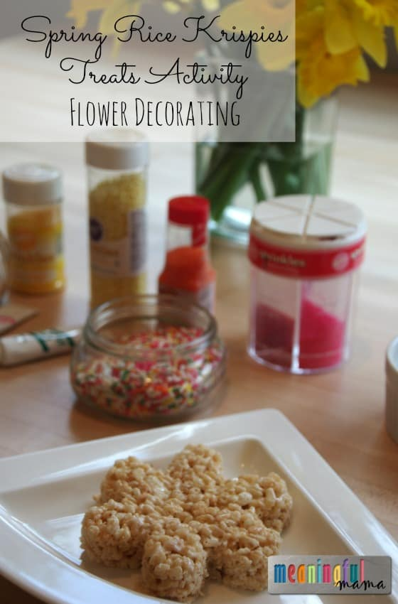 Spring Rice Krispies Treats Activity - Flower Decorating