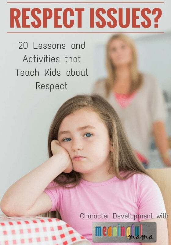 Character Building Lessons and Activities about Respect