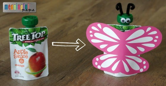 Tree Top Butterfly Pouches - Party Food Idea