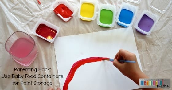 Use Baby Food Containers for Paint Storage