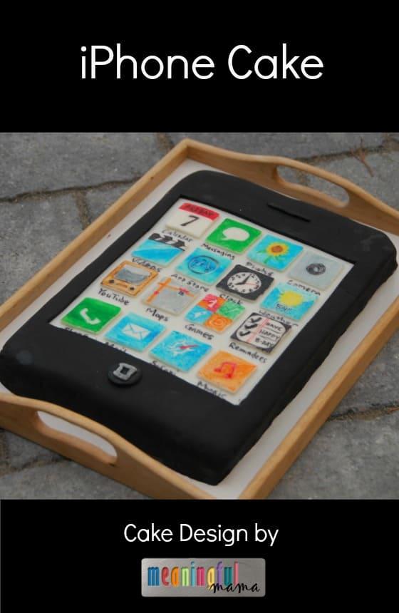 iPhoneCakeBirthdayDesignjpg
