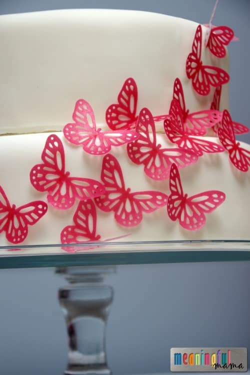 Butterfly Birthday Cake Tutorial - Pink Butterfly Birthday Party