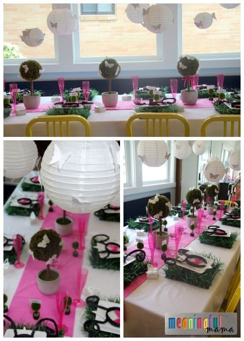 Butterfly Party Table Decorating Ideas