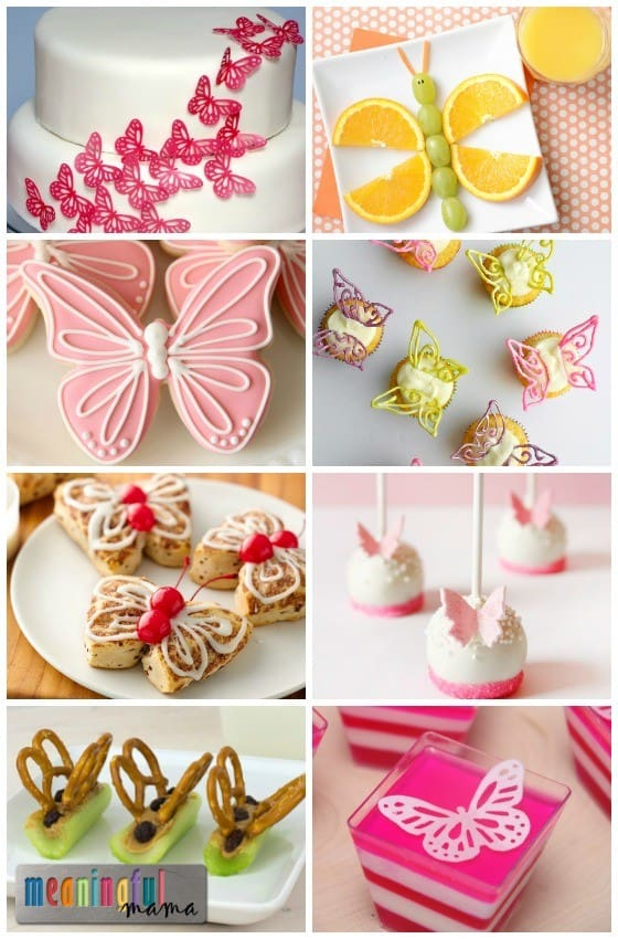 Butterfly Themed Food and Snacks - Ideas for a Butterfly Party