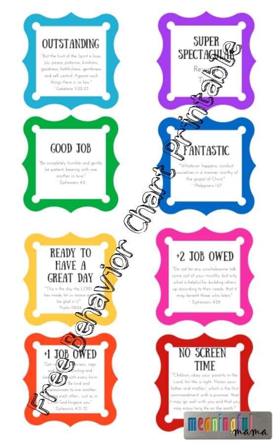 Free Behavior Chart Printable - Consequence and Reward Chart for Kids