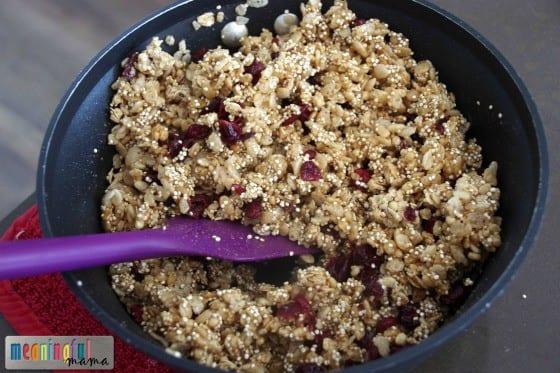 Homemade Nature Valley Granola Bars - Quinoa, Cranberry, White Chocolate May 1, 2015, 9-059