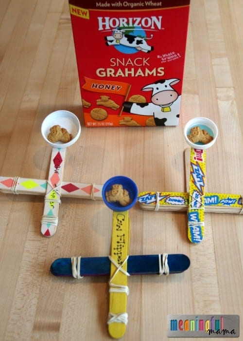 How to Make a Popsicle Stick Catapult - Snacking Fun