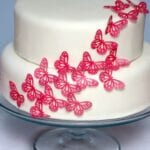 Simple Pink Butterfly Cake