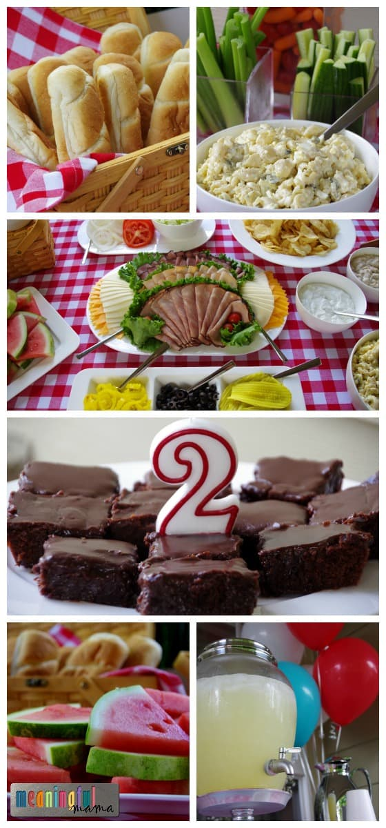 2 Year Old Birthday Party Ideas The Food Spread Was Beautiful And Perfect For A Picnic Theme We Had Hoagie Rolls With An Assortment Of Meats