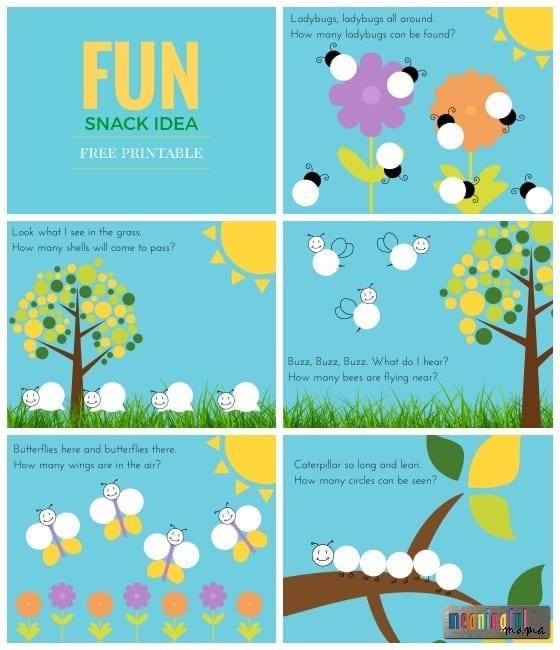 Fun Snack Idea for Kids Free Printable