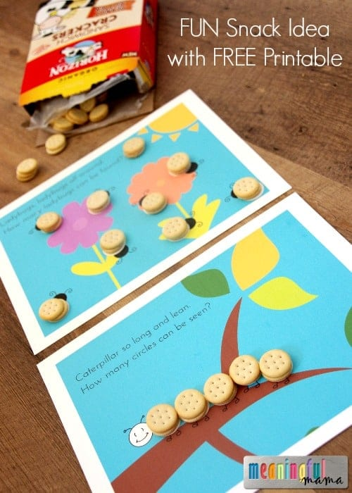 Fun Snack Idea for Kids that Involves Counting - Free Printable Included