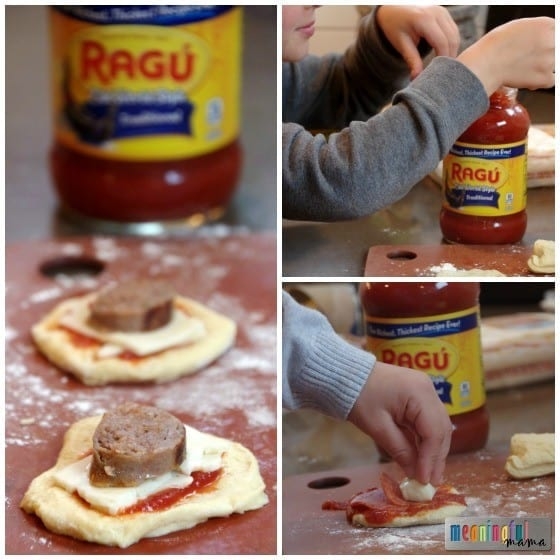 Pizza Poppers with a Ragú Dipping Sauce