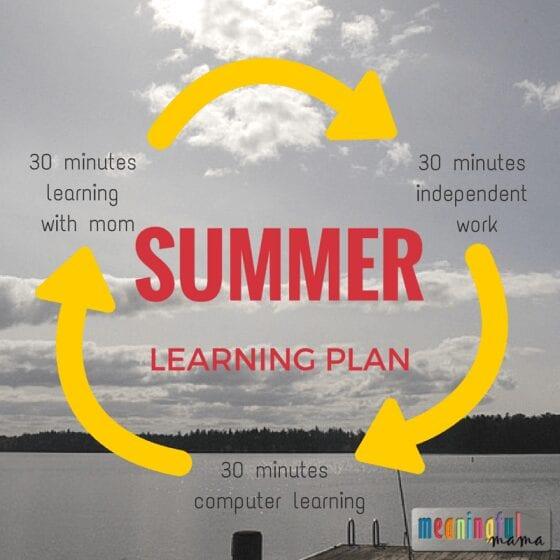Summer Learning Plan