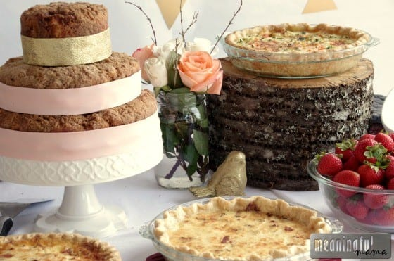 Baby Shower Brunch Ideas with Tiered Coffee Cake