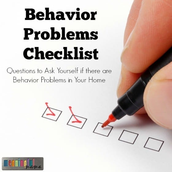 Behavior Problems Checklist