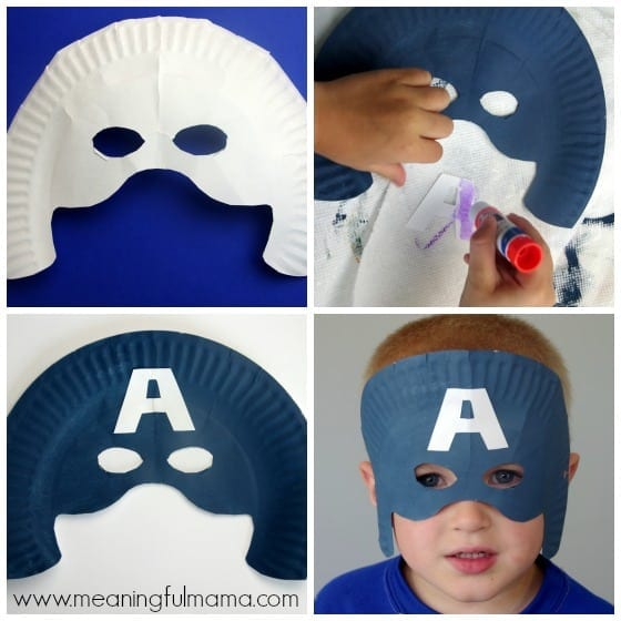 Captain America Mask Tutorial And Template Meaningfulmama