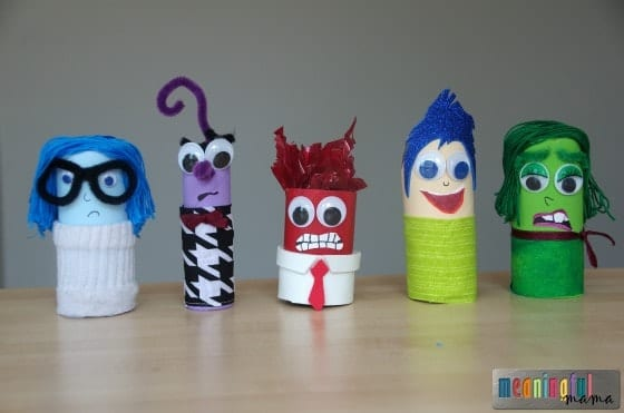 Pixar Inside Out Toilet Paper Roll Craft