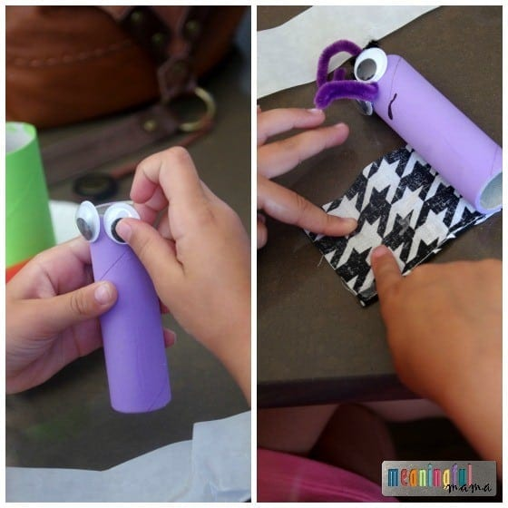Fear - Pixar Inside Out Craft using Toilet Paper Rolls