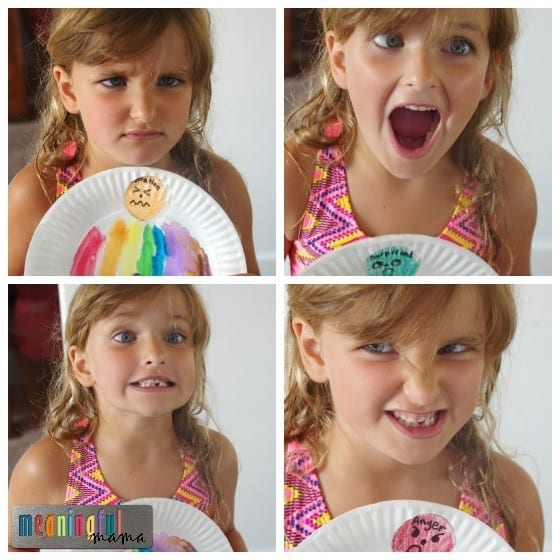 Feelings Plate - A Way for Kids to Label and Identify Emotions