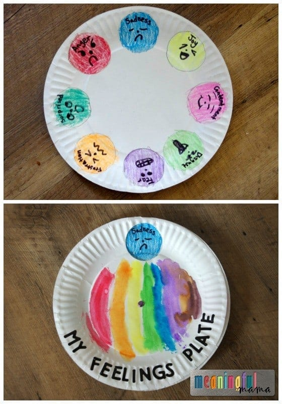 Feelings and Emotions Paper Plate Spinner  sc 1 st  Meaningful Mama & Paper Plate Feeling Spinner