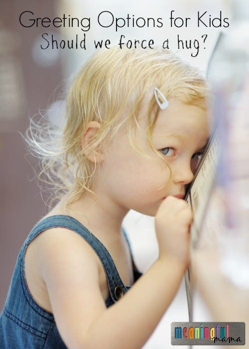 Greeting Options for Kids - Child Abuse Prevention
