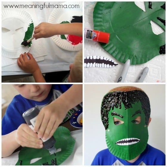 Hulk Paper Plate Tutorial and Template