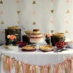 Gold and Peach Natural Baby Shower