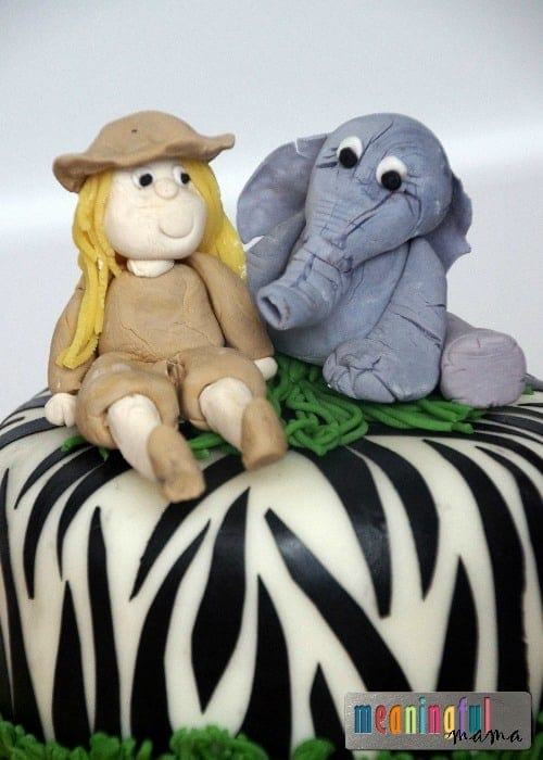 Safari Birthday Cake Figurines