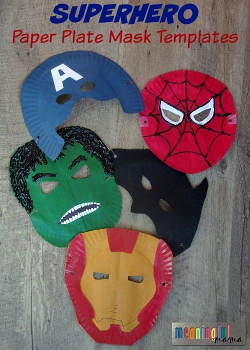 Paper Plate Super Hero Masks Superhero