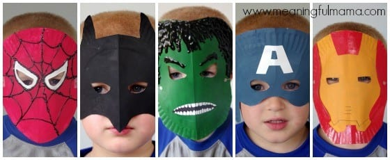 Superhero Paper Plate Mask Tutorial with Free Template