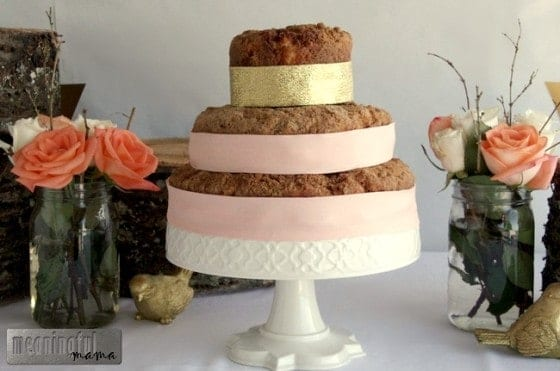 Tiered Coffee Cake for a Baby Shower