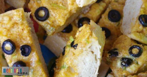 Hot Cheddar Olive Bread Recipe - Yum