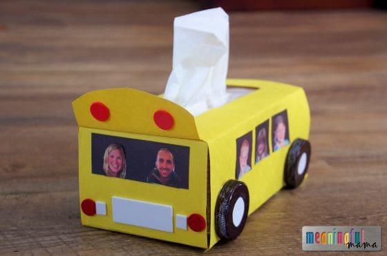 Great Tissue Paper School Bus Craft Sep 3, 2015, 1-008