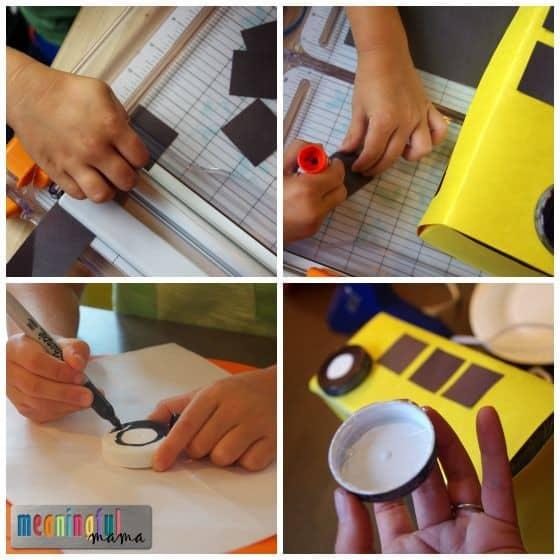 Kleenex Box School Bus Craft Tutorial
