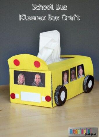 School Bus Kleenex Box Craft