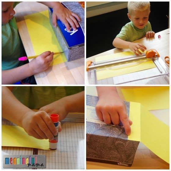 School Bus Kleenex Box Craft Tutorial
