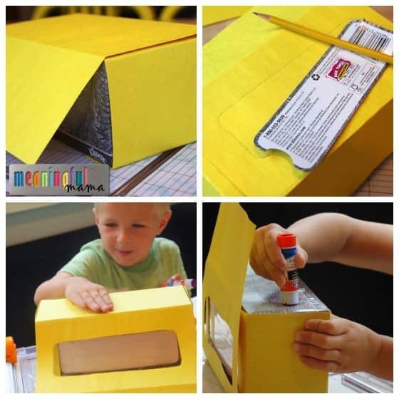 Tissue Paper Box School Bus Craft Tutorial