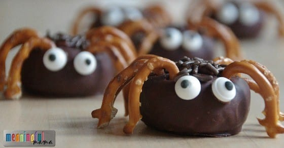 Easy Mini Spider Donuts Tutorial - Spider Themed food for Halloween or Harvest