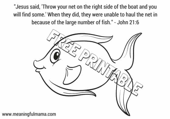 Jesus and Miracle Fish Catching Craft
