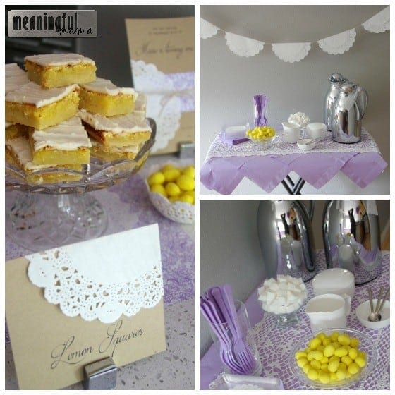 Lavender, Lemon and Lace Birthday Party Ideas