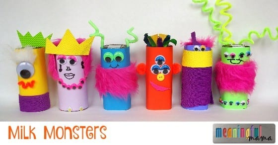 Milk Monsters - Fun Drink Idea for Halloween or Harvest