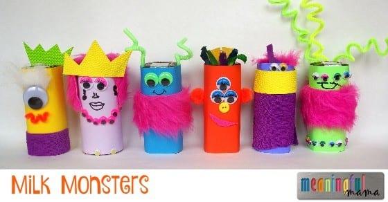 Milk Monsters - Fun Drink Idea for Halloween or Harvest