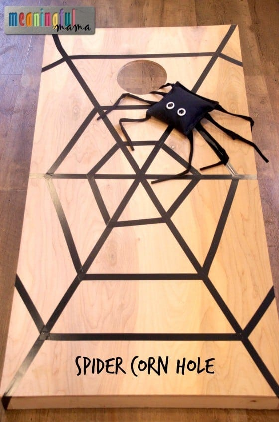 Spider Corn Hole Game for Halloween Oct 28, 2015, 10-039