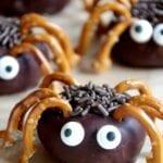 Easy Mini Spider Donuts