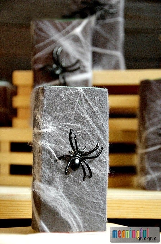Spider Juice Boxes - Food Idea for Harvest Party, Spider Unit or Halloween