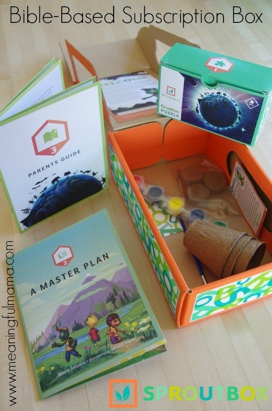 SproutBox Kids Review - Christian Subscription Box Sep 29, 2015, 1-087